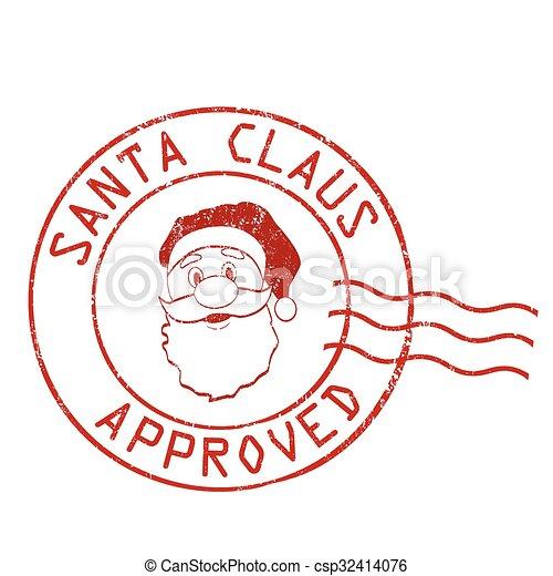 Santa Claus approved stamp - csp32414076