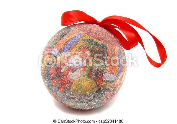 Santa Claus ball christmas tree toy - csp52841480