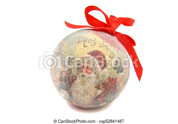 Santa Claus ball christmas tree toy - csp52841487