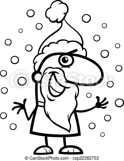 santa claus cartoon coloring page csp22382753