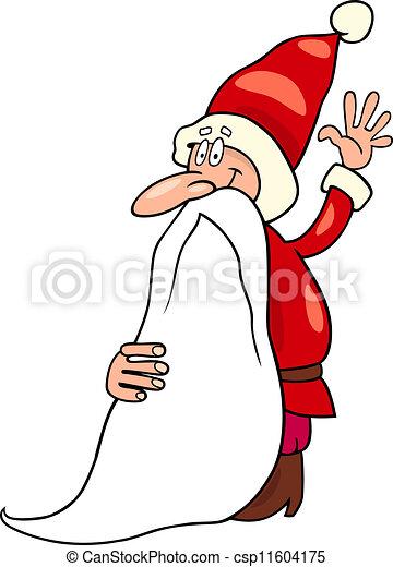 Father Christmas Cartoon Images.Santa Claus Christmas Cartoon Illustration