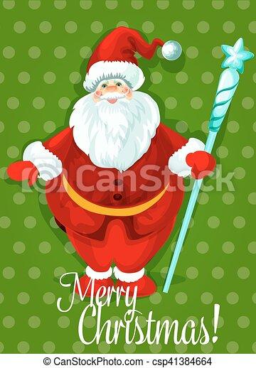 Christmas Greeting Cards Design.Santa Claus Christmas Day Greeting Card Design