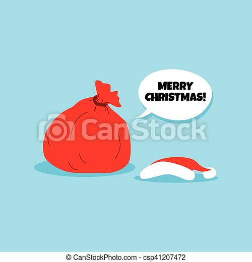 Santa Claus Christmas Gift Bag Sack
