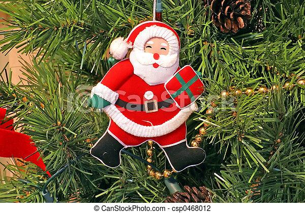 Santa Claus Christmas Tree Ornament - csp0468012