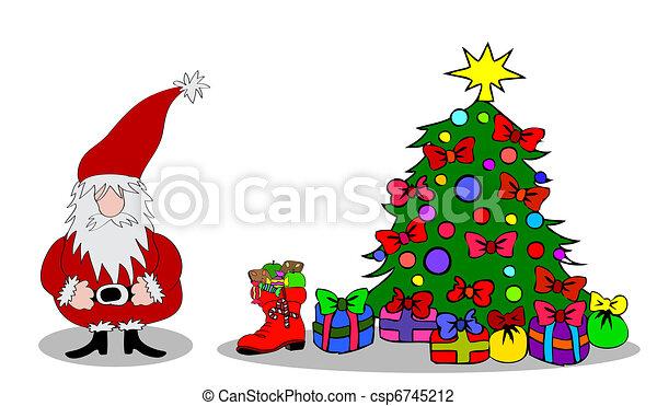 Santa Claus Christmastree - csp6745212