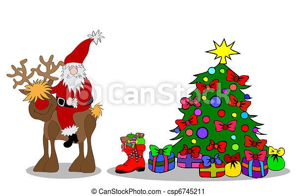 Santa Claus Christmastree - csp6745211