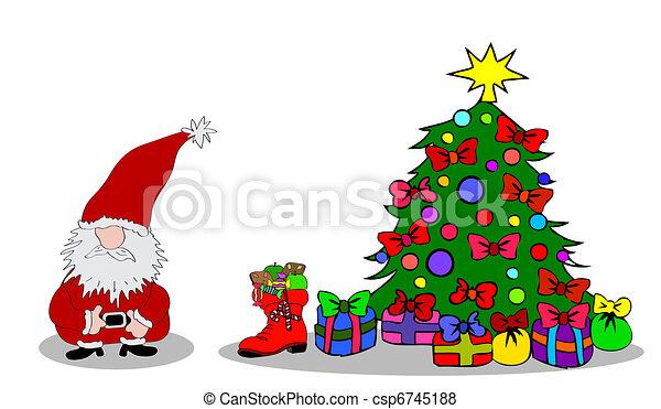 Santa Claus Christmastree - csp6745188