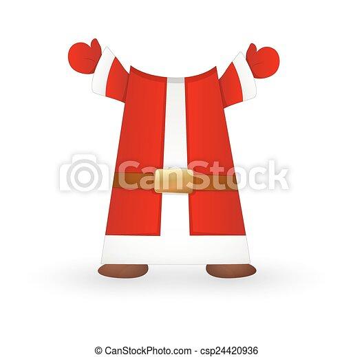 santa claus costume csp24420936 - Santa Claus Coat
