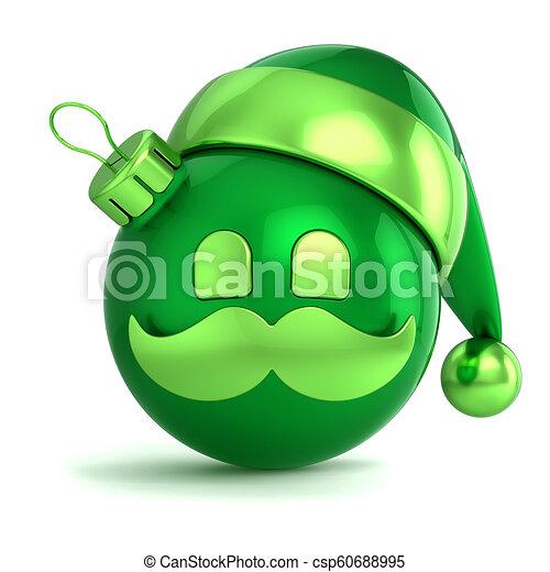 3708a3e72f1cb Santa claus hat christmas ball avatar decoration green. Emoji santa ...