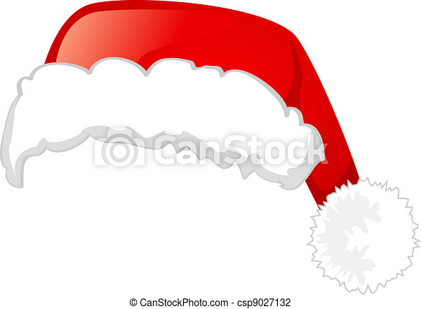 Santa Claus hat, Isolated On White Background - csp9027132