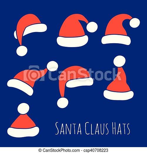 Santa Claus Hats Set - csp40708223