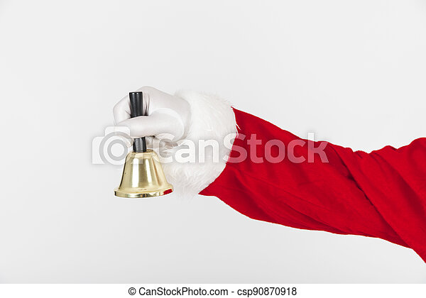 santa claus holding bell . High quality and resolution beautiful photo concept - csp90870918