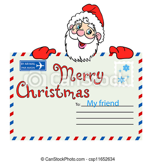 envelope from santa