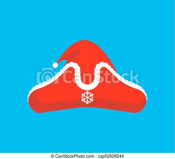 def36f27a1d12 Santa Claus pirate red cap. Christmas buccaneer hat. New Year Vector  illustration - csp52628244
