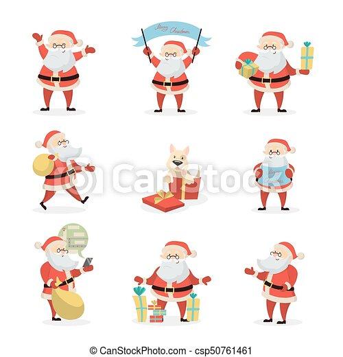 Santa Claus set. - csp50761461