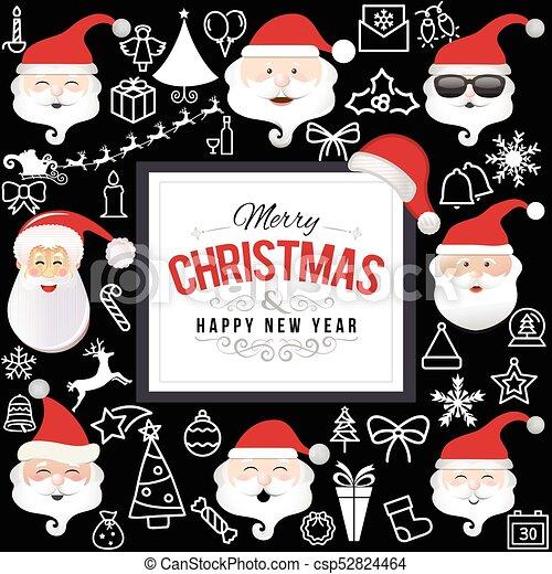 Santa Claus Set - csp52824464