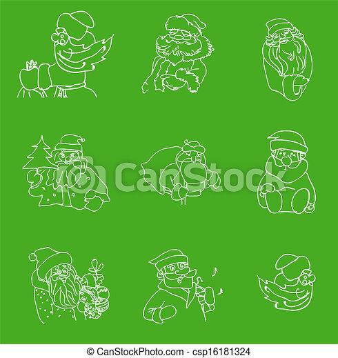Santa Claus set - csp16181324