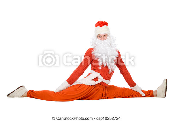 Santa Claus sits on a splits - csp10252724