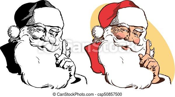 Santa Claus Stroking Beard - csp50857500