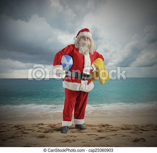 Santa claus vacation - csp23360903
