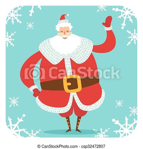 Santa Claus vector illustration - csp32472807