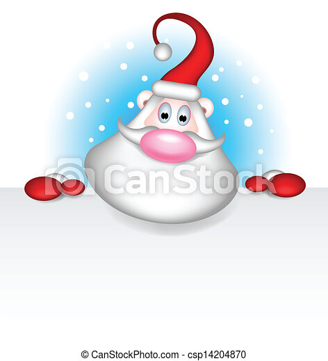 santa claus with blank sign - csp14204870