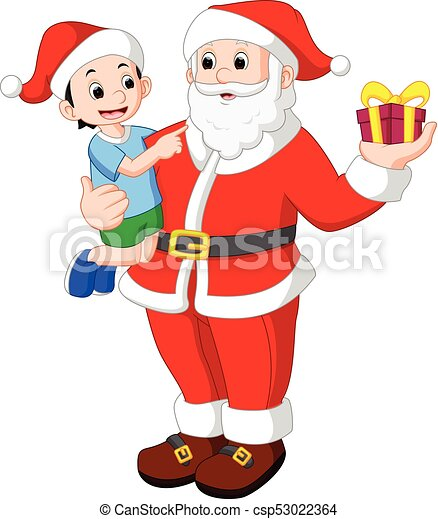 illustration of santa claus with kids https www canstockphoto com santa claus with kids 53022364 html