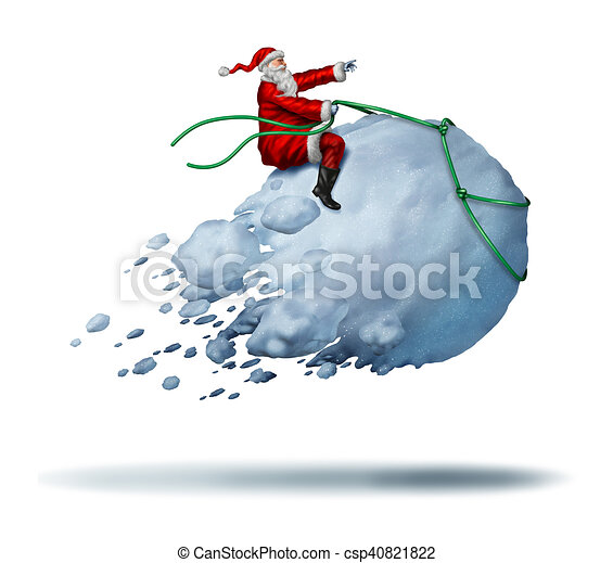 Santa Clause Snow Fun - csp40821822