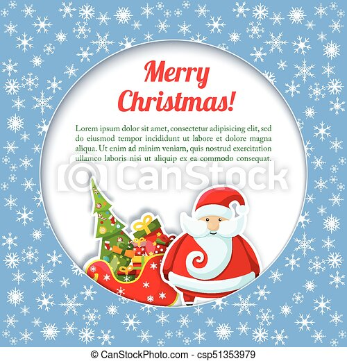 santa colored card csp51353979