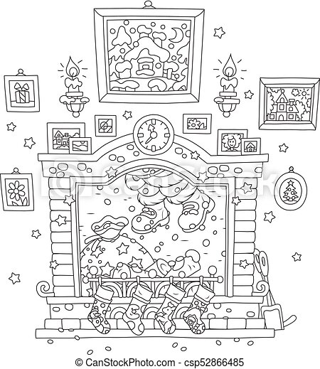 Superb Santa Coming Down The Chimney Home Interior And Landscaping Palasignezvosmurscom
