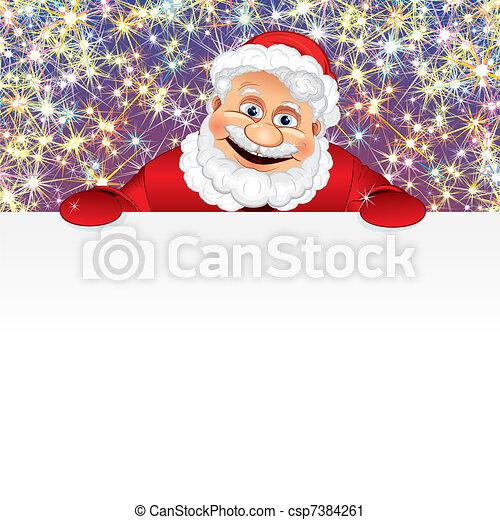 Feliz Santa con espacio - csp7384261