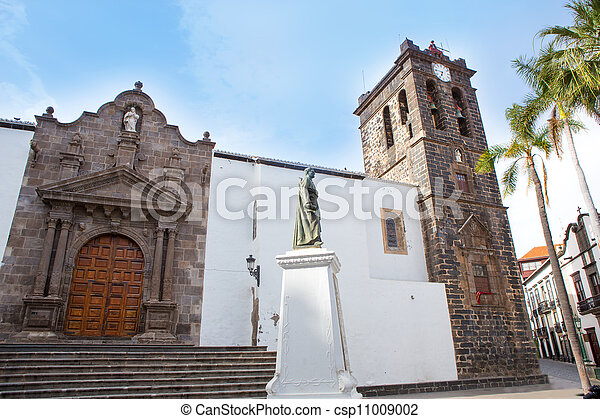 Santa Cruz de La Palma Plaza de Espana Iglesia - csp11009002