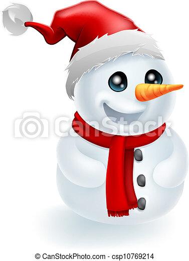 santa hat christmas snowman csp10769214 - Snowman Santa