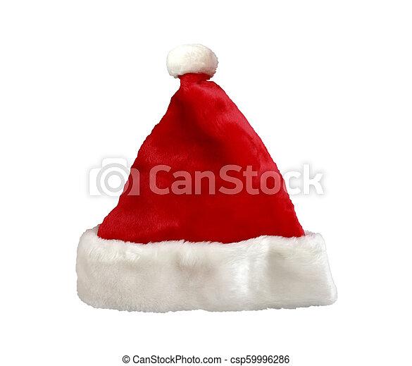 santa hat isolated on white background - csp59996286