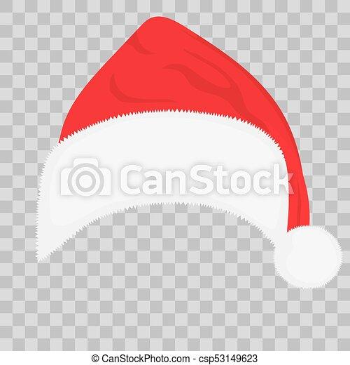 Christmas Hat Clipart Transparent Background.Santa Hat On Transparent Background Vector
