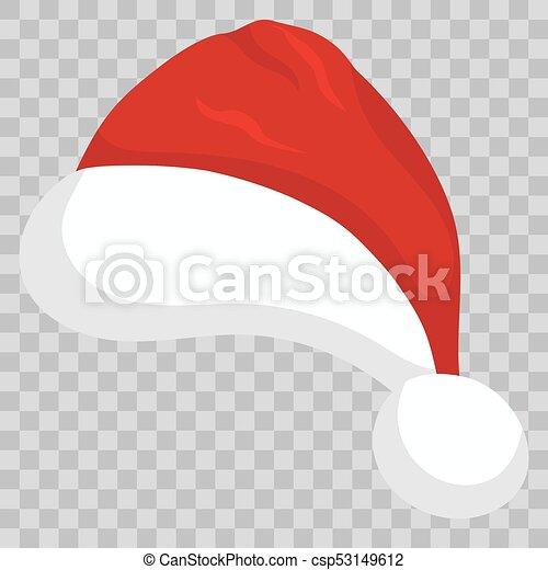 Christmas Hat Cartoon Transparent.Santa Hat On Transparent Background Vector