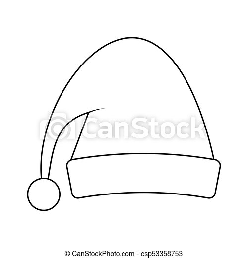 Santa Hat Outline For Christmas Design Isolated On White Background Canstock