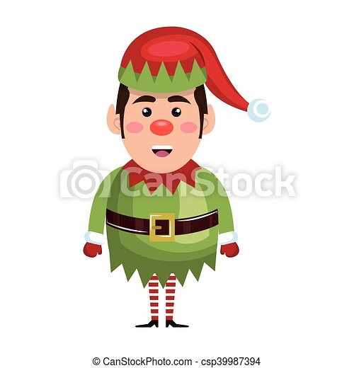 santa helper cartoon - csp39987394
