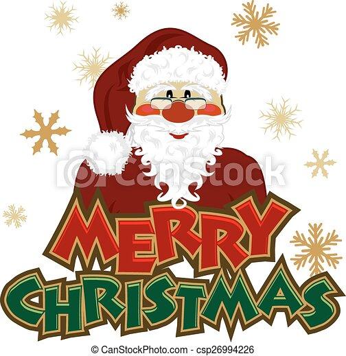 Christmas Header.Santa Icon With Christmas Header