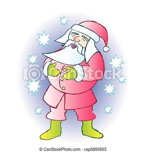Santa Laughing - csp5893503