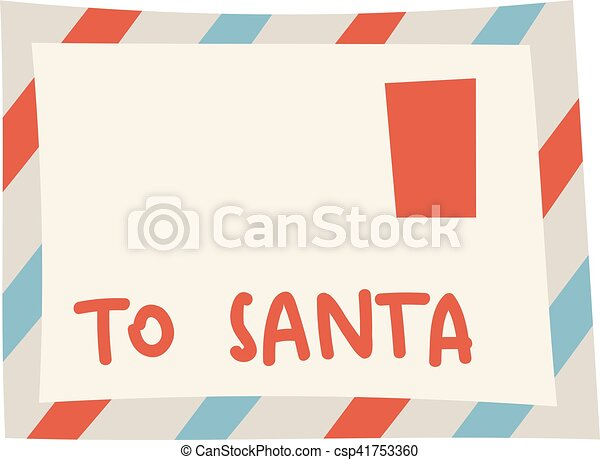 Santa letter vector illustration. - csp41753360