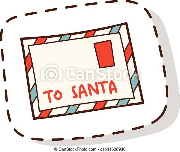 Santa letter vector illustration. - csp41608930