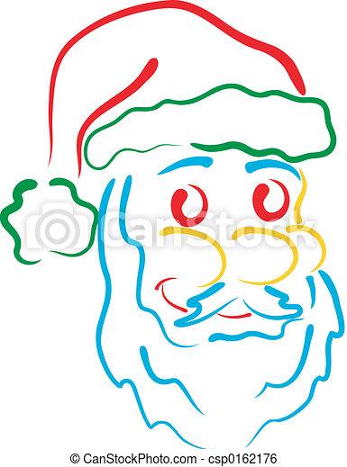 Santa line art - csp0162176