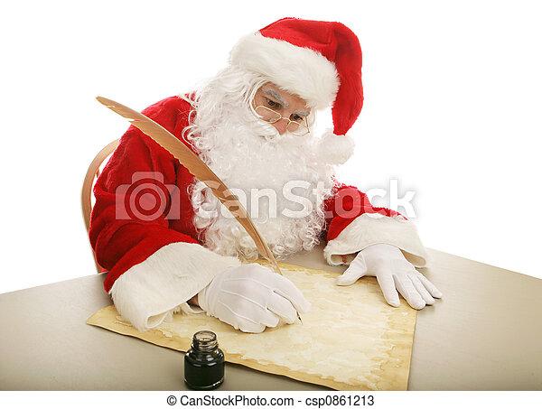 Santa Making His List - csp0861213