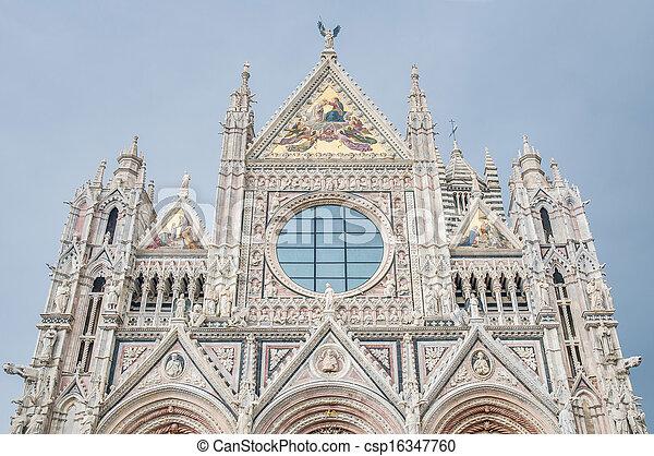 Santa Maria della Scala, a church in Siena, Tuscany, Italy. - csp16347760