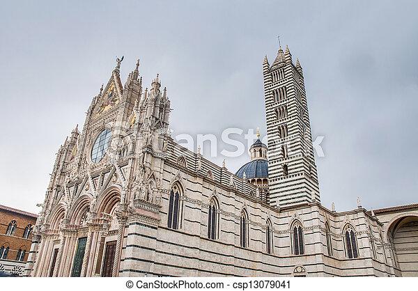 Santa Maria della Scala, a church in Siena, Tuscany, Italy. - csp13079041
