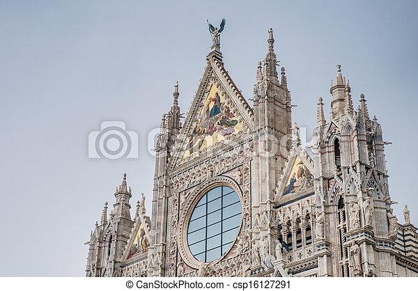 Santa Maria della Scala, a church in Siena, Tuscany, Italy. - csp16127291