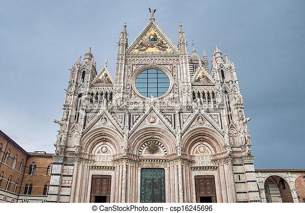 Santa Maria della Scala, a church in Siena, Tuscany, Italy. - csp16245696