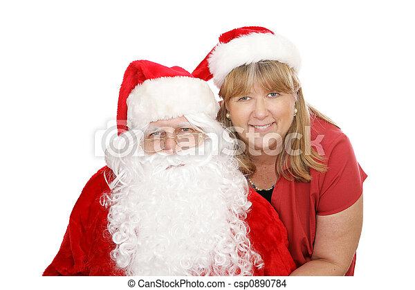 Santa Mrs Claus Csp0890784