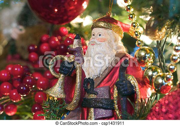 Santa Ornament - csp1431911
